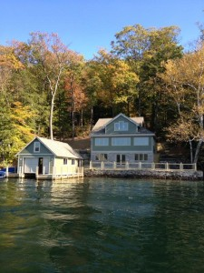 View of house from lake