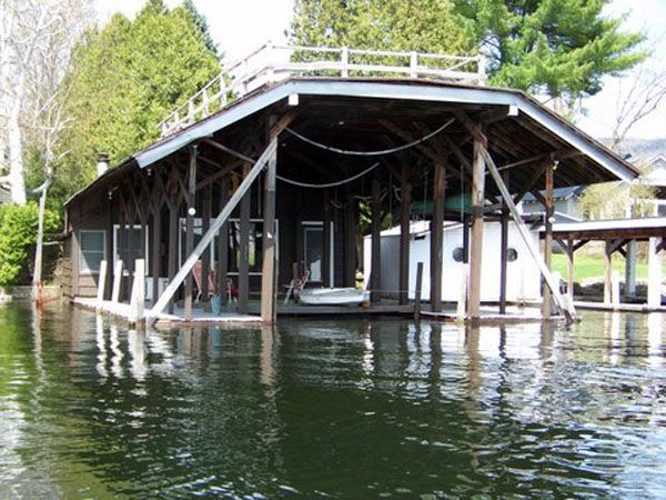 Boathouse from the water-note the slip has been enlarged to take up to 35\\\' boat
