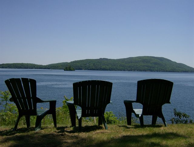 Chairs lakeside with a great view
