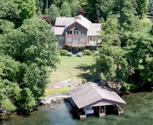 1687 Pilot Knob Rd: Aerial View from Lake George