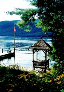 Land\'s End is 1 mile south of Hulett\'s Landing within the Adirondack Park