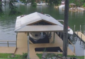 Travis Point Way rental dock