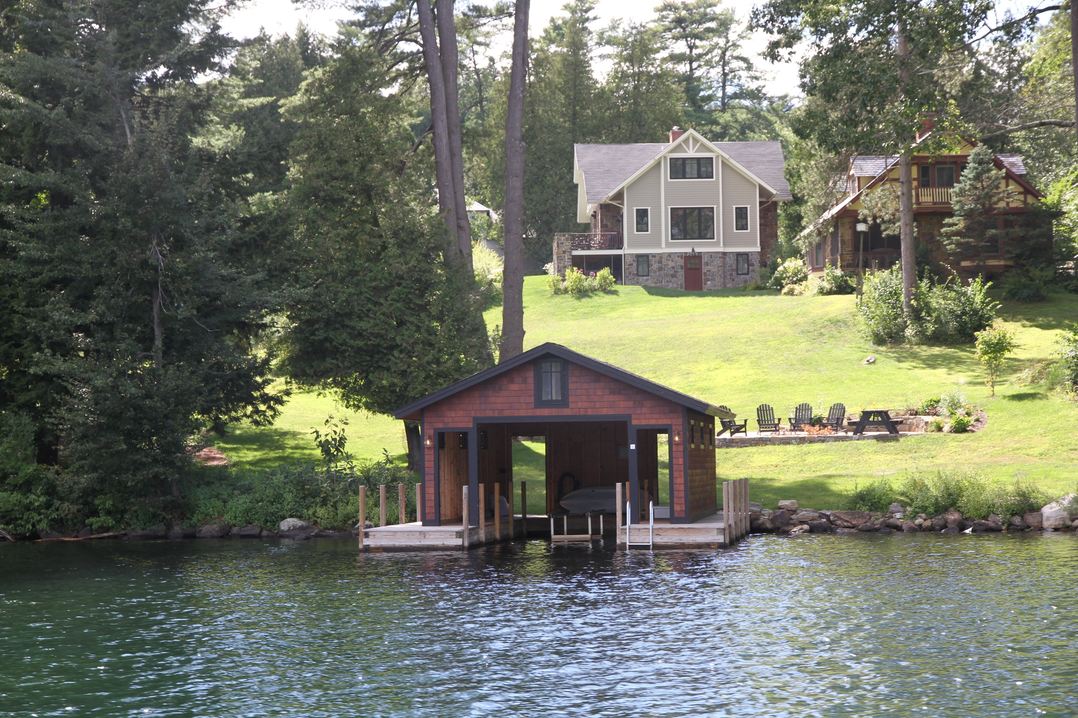 ny on slides cabin in take footer cabins george rentals lake horicon heights