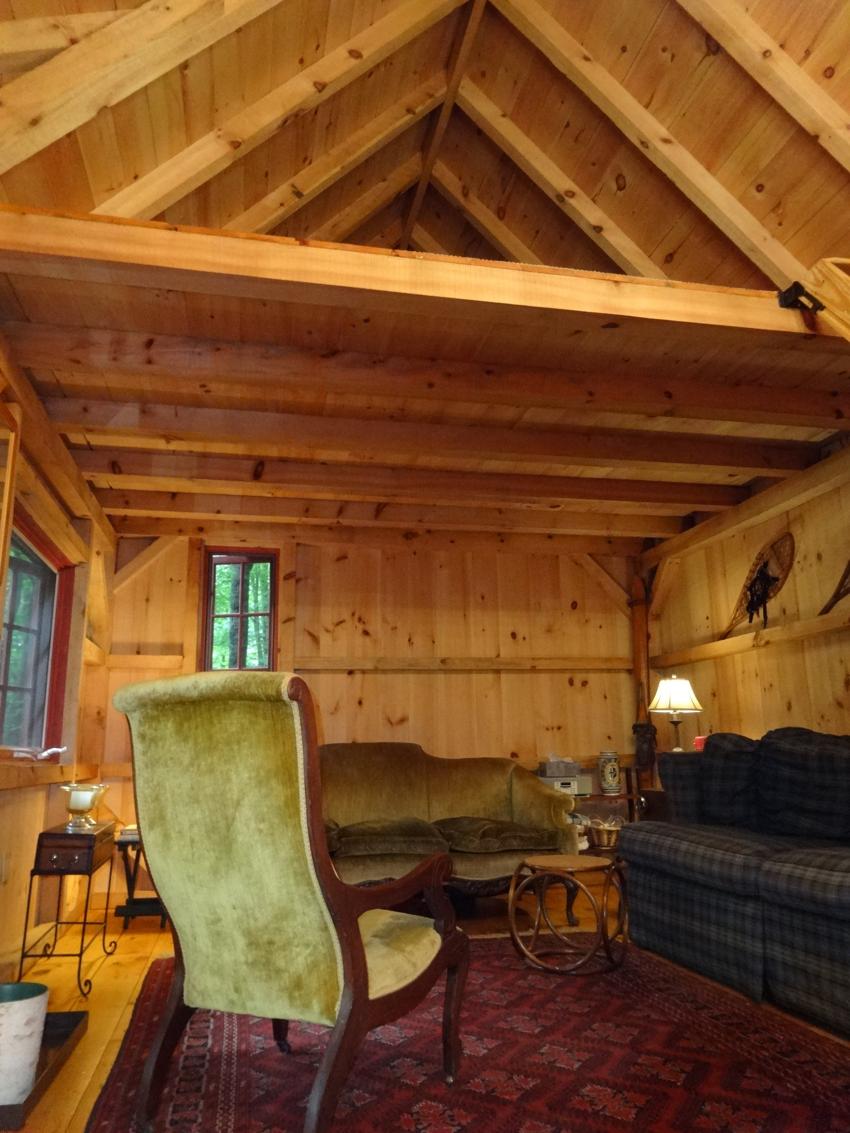 Vaulted Ceiling With Loft In The Cabin Davies Davies