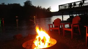 lakeside firepit